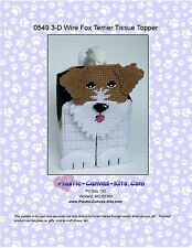 Wire Haired Fox Terrier Dog 3-D Tissue Topper- Plastic Canvas Pattern or Kit