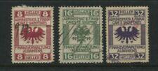 Albania Albanien 1918 Ww1 Austria Occupation Revenue Stamps Used