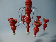 ERZGEBIRGE SEIFFEN Kerzenleuchter Kronleuchter zum aufhängen Kerze Flamme Holz