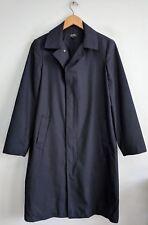APC A.P.C. Paris France black wool long coat small