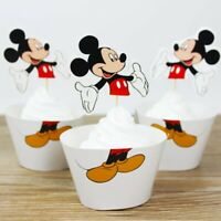 24pcs Mickey Mouse cupcake Birthday Wedding Party Decorations Cupcake paper cup