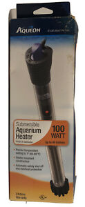 Aqueon Submersible Aquarium Heater 100w Up to 40 Gallons Fresh Saltwater New