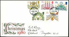 Gb Fdc 1980 Christmas Cambridge Fdi #C35310