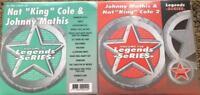2 CDG KARAOKE LEGENDS DISCS NAT KING COLE & JOHNNY MATHIS GREATEST HITS CD+G