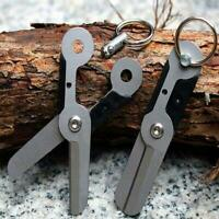 Outdoor Survival Pocket Stainless Steel Keychain Keyring Scissor Tool Multi Tool