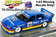 1:43 Alan Jones Ford EB Falcon 1993 ATCC #35 Missing Vinyl Decals Only! Biante