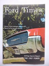 "FORD Memorabilia, Original Vintage October 1966 ""Ford Times"" Mag, 1966/1967 FORD"