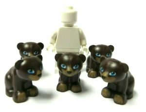 Lego 5 Dark Brown Sitting Bear Cub Minifigure Not Included  Animal Pet Zoo