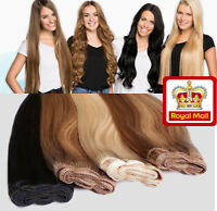 Double Weft Thick Clip In Real Remy Human Hair Extensions Full 70g-170G THICK