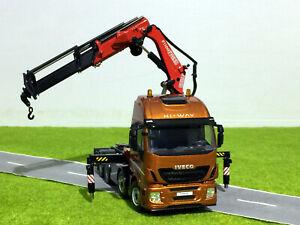 Iveco stralis 8x4 Fassi crane with ballast box,WSI truck model 04-1167