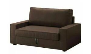 IKEA VILASUND Two-Seat Sofa-Bed SLIPCOVER Borred Dark Brown:  New