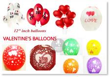 RED HEART Latex MULTI PRINT BALOON BALLONS helium Quality Party Birthday Wedding