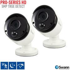 Swann 5MP Super HD Thermal Sensing Bullet Security Camera Twin Pack