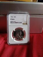 Strong Obverse Cameo Contrast! 50c 1962 FRANKLIN HALF DOLLAR NGC PF 67 STAR