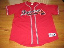 Vintage Majestic ATLANTA BRAVES Button-Down (2XL) Baseball Jersey