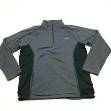 Reebok 1/4 Fermeture Éclair Pull Hommes Taille Extra XL Gris Long Manche Poches