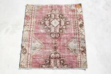 OUSSHAK 3x3 turkish rug, wool kilim rug, vintage, bohemian 2'6x2'8 ft 4692 RUGS