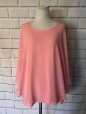 NWT Charter Club XL Top Layered Look Poncho Blouse Sleeveless Tank Pink New $59