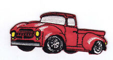 Red Pickup Truck Iron On Patch Vehicles