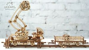 UGears RAIL Mounted Manipulator Self-propelled mechanical wooden model 3D puzzle