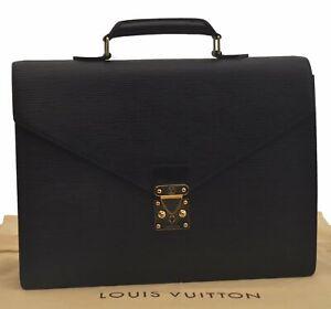 Authentic Louis Vuitton Epi Serviette Conseiller Black Briefcase M54422 LV C3081
