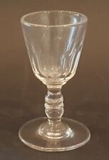 Clear glass vintage Georgian antique dram glass