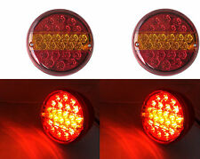 1X PAIR 12V REAR LED LIGHTS STOP TAIL INDICATOR 4 FUNCTION TRACTOR LORRY TRAILER