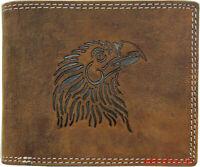 Hochwertige Geldbörse Geldbeutel Portemonnaie Büffel Leder Adler RFID Schutz