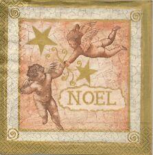 2 Serviettes en papier Anges Noël Paper Napkins Christmas Angel