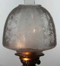 """OIL LAMP SHADE - Butterfly Beehive Shade White 4"""" Fit"""