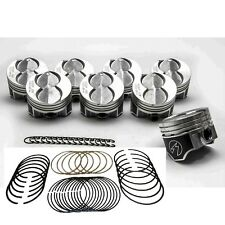 Ford 351W/5.8L Speed Pro Hypereutectic Coated Flat Top Pistons+MOLY Rings +60