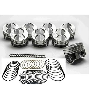 Ford 351W/5.8L Speed Pro Hypereutectic Coated Flat Top Pistons+MOLY Rings STD