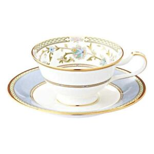 Noritake Y59587/9983-6 Bone China Tea Coffee Cup Saucer Gray Japan with Tracking