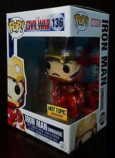 Funko Pop Marvel Captain America Civil War Iron Man Unmasked - Exclusive