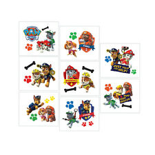 Paw Patrol Puppy Pets Childrens Birthday Party Loot Favor 8 x Tattoo Sheets