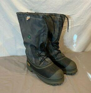 Black Diamond Kondike Steel Toed Waterproof Winter Boots w/Sorel Liners US 11