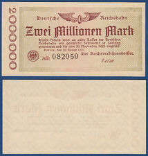 REICHSBAHN BERLIN 2 Millionen KSF MG 2c / P.S1012a