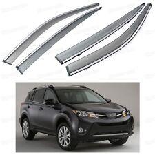 Front & Rear Side Window Deflectors Visor Vent Shade for Toyota RAV4 2013-2015