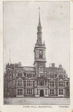 """""""Hundred Year old photo postcard from collection"""" Town Hall Blackpool"""