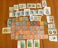 40 Finland Finnish Stamps (OFF Paper) 30 Slovakia Stamps (ON Paper) KW20