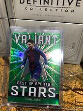 2020 Leaf Valiant Best of Sports Stars Lionel Messi VS-12 7/75 Green