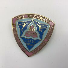 1983 Southwest Pacific Regional Skating Championships Lapel Pin Ex - 50Th Anniv