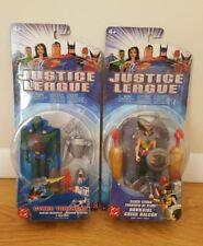 Justice League Martian Manhunter & Hawkgirl Action Figures Nip 2004 Mattel