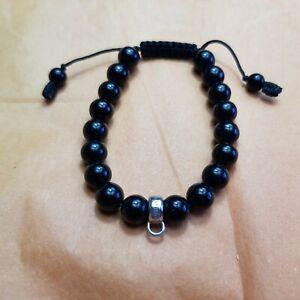 Black Bead Thomas Charm Bracelet