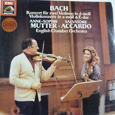 vinyl lp record BACH Konzert fuer zwei violinen D moll , Mutter - Accardo