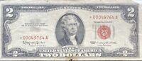 USA 2 Dollar 1963 United States Note Red Seal Banknote Schein STAR NOTE #22054