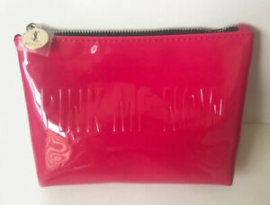 YSL Yves Saint Laurent patent coral pink Cosmetic MAKEUP clutch Bag CASE pouch