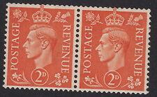 GB : 1941 2d pale orange -s/w wmk  SG 488a unmounted mint pair