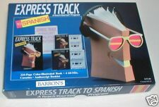 Barron's Express Track to Spanish Books + Cassettes New