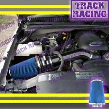 99-07 SILVERADO SIERRA YUKON AVALANCHE 1500 V8 COLD BLK AIR INTAKE Black Blue